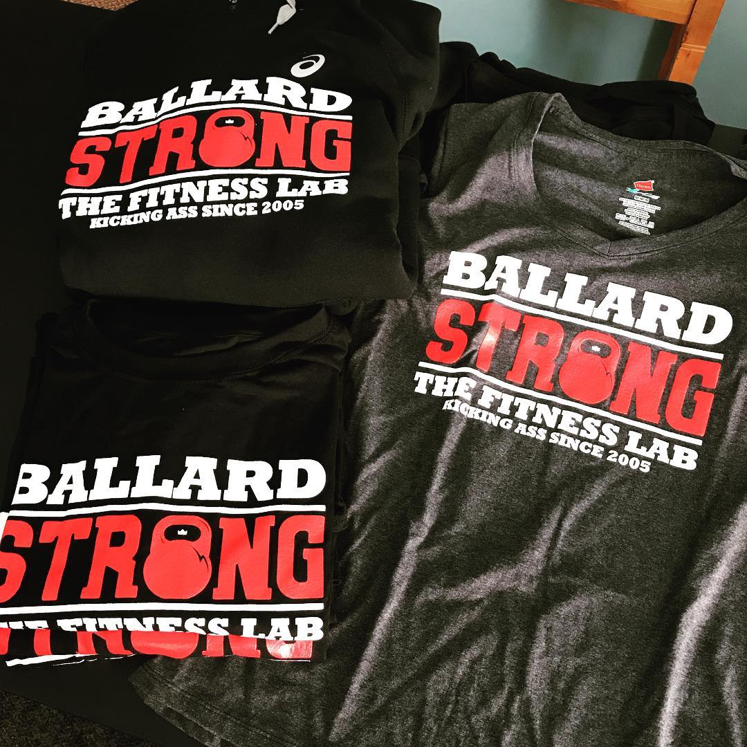New shirts for our crew! ballardstrong movementislife fitnesslab leandownchallenge