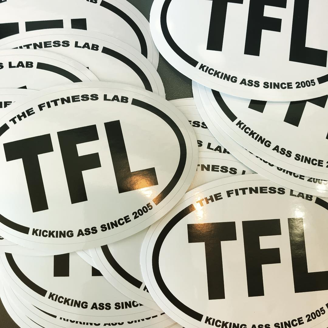 Look what the postman brought us today! Stickerama fitnesslab kickingass