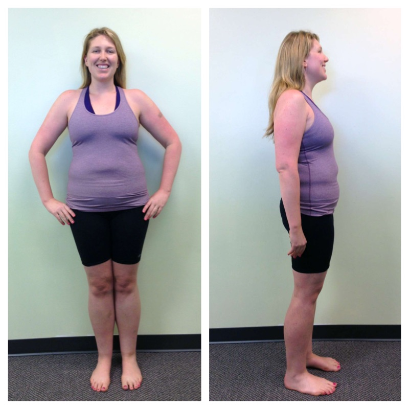 Christina Before the 10 Day Shakeology Challenge